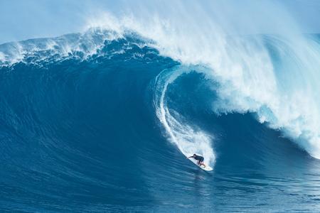 MAUI, HI - JANUARY 16 2016: Professional surfer Joao Marco Maffi